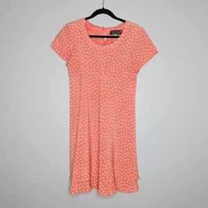 Vintage Peach Polka Dot Dress